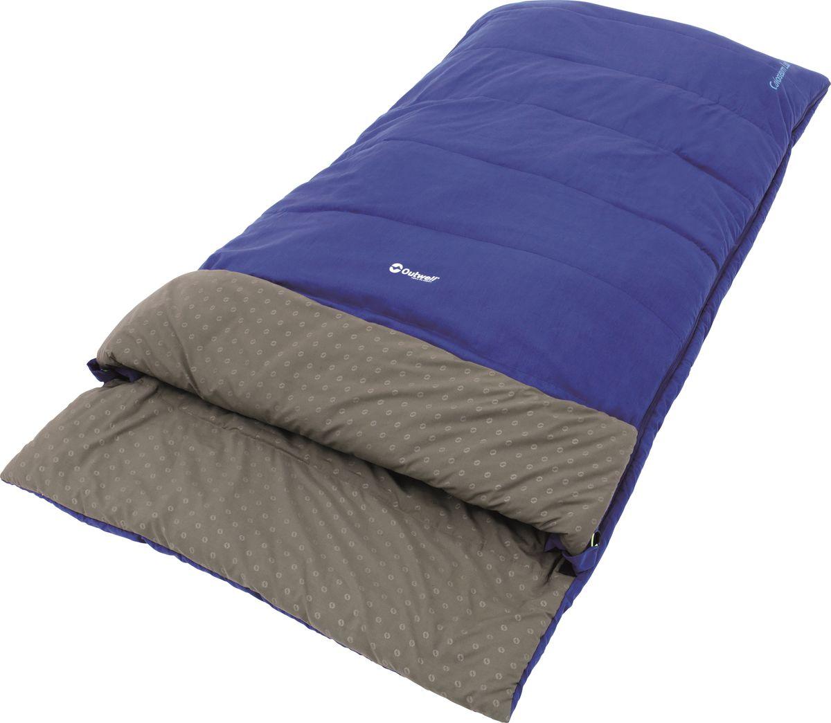 Спальный мешок Outwell  Colosseum XL , двусторонняя молния, цвет: синий, 210 x 105 см - Спальные мешки