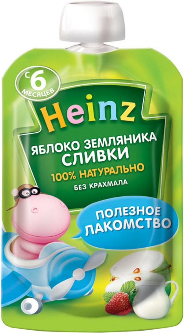 Heinz пюре яблоко земляника сливки, с 6 месяцев, 90 г (пауч)75980279Продукт готов к употреблению. Откройте крышку и кормите с ложечки. Более взрослые дети могут употреблять продукт непосредственно из упаковки. Если продукт необходимо разогреть, поместите упаковку в теплую воду. Не разогревать в микроволновой печи.