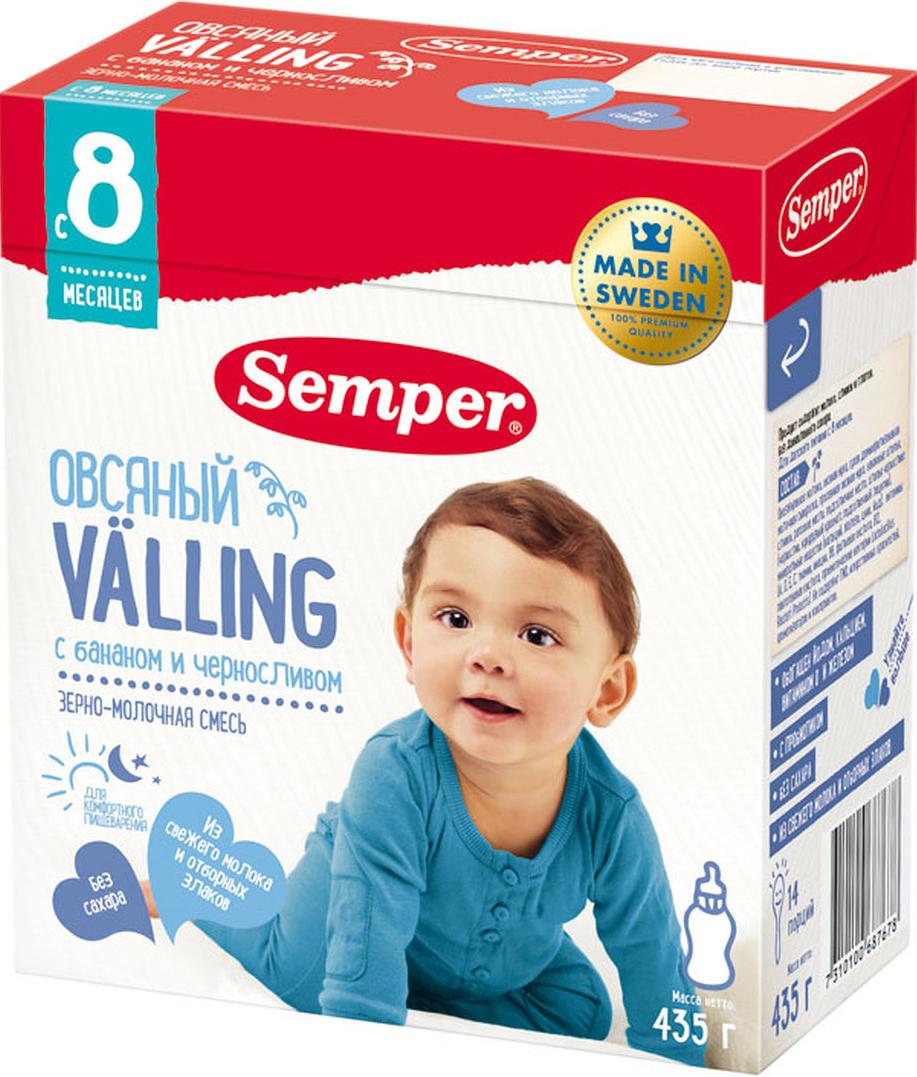 Semper Valling овсяный с бананом и черносливом, с 8 месяцев, 435 г -  Детское питание