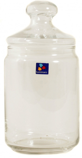 """Банка для сыпучих продуктов Luminarc """"Клуб"""" прекрасно подойдет для хранения круп, макарон, кофе, чая,  трав и  специй, сахара, соли, меда. Емкость выполнена из ударопрочного стекла, устойчивого к высоким температурам. Банка универсальна и удобна в  использовании, она поможет поддерживать порядок на кухне.  В комплекте стеклянная крышка, которая обеспечивает герметичность емкости, защищает продукты от влаги, пыли, насекомых и обветривания.  Прозрачное стекло позволяет разглядеть содержимое банки, не открывая крышку.  Можно мыть в посудомоечной машине."""