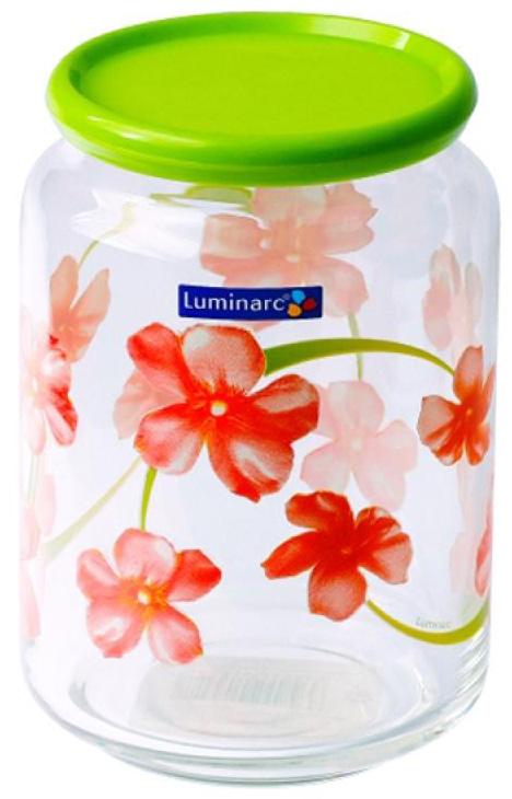 Банка для сыпучих продуктов Luminarc РОНДО СВИТ ИМПРЕШН. 1 лG8502Емкость для хранения продуктов LUMINARC РОНДО СВИТ ИМПРЕШН (G8502) с пластмассовой крышкой и красивым узором для хранения сыпучих продуктов всегда украсит кухню любой хозяйки. Емкость изготовлена из высококачественного материала – ударопрочного стекла, созданного по особым технологиям плавления. В процессе производства посуда проходит дополнительный процесс упрочнения или «закаливания», что гарантирует более высокое механическое и термическое сопротивление изделий. В результате этих технологических особенностей производства данная банка для хранения продуктов в состоянии выдерживать более интенсивные нагрузки, чем обычная стеклянная посуда. Пригодна для мытья в посудомоечных машинах.Цвет Емкость для хранения продуктов LUMINARC РОНДО СВИТ ИМПРЕШН (G8502):зеленый с рисунком. Технические характеристики Емкость для хранения продуктов LUMINARC РОНДО СВИТ ИМПРЕШН (G8502):Материал - стекло. Материал крышки - пластик. Объем - 1 л. Диаметр - 10 см. Высота - 15 см. Вес - 0.6 кг .