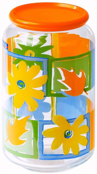Банка для сыпучих продуктов Luminarc Рондо Валенсия, цвет: оранжевый, 1 л емкость для хранения сыпучих продуктов с крышкой 10x7 5 см berghoff studio 1106373