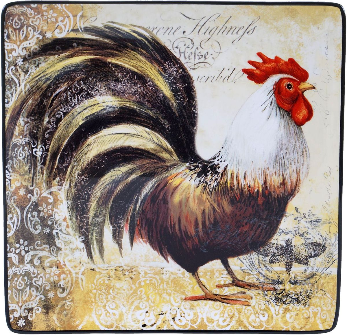 Блюдо Certified International Винтажный петух, 30 х 30 см57481