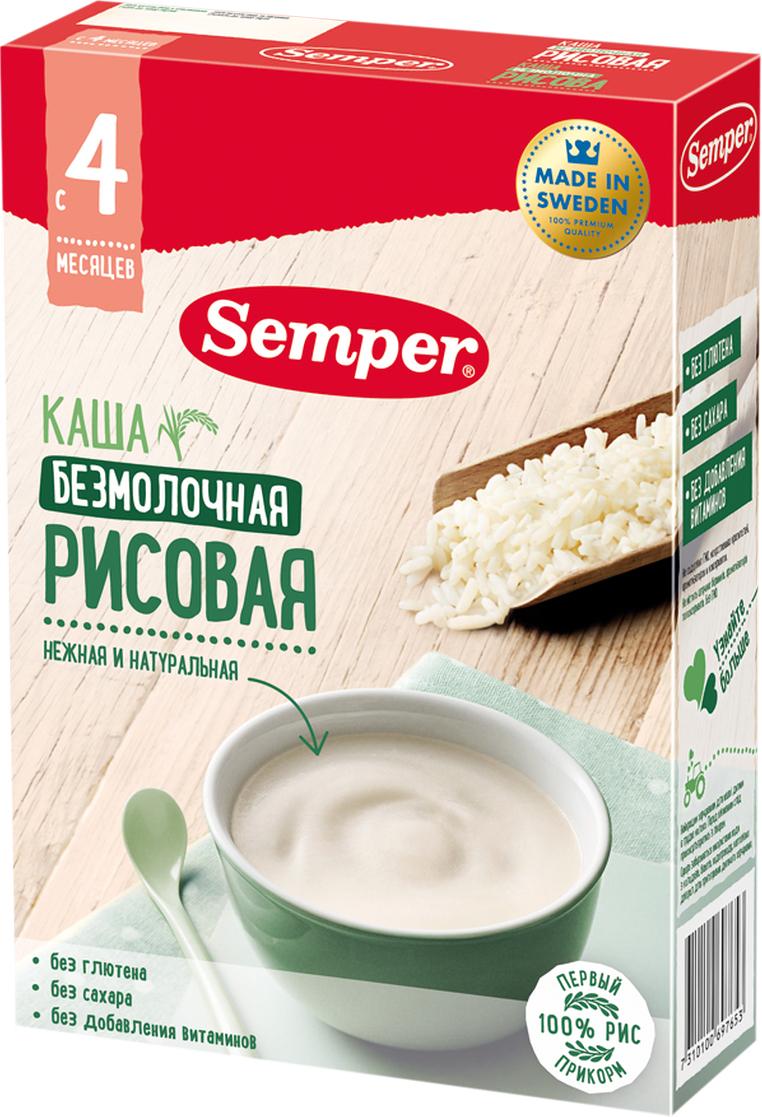 Semper каша рисовая безмолочная с 4 месяцев, 180 г -  Детское питание