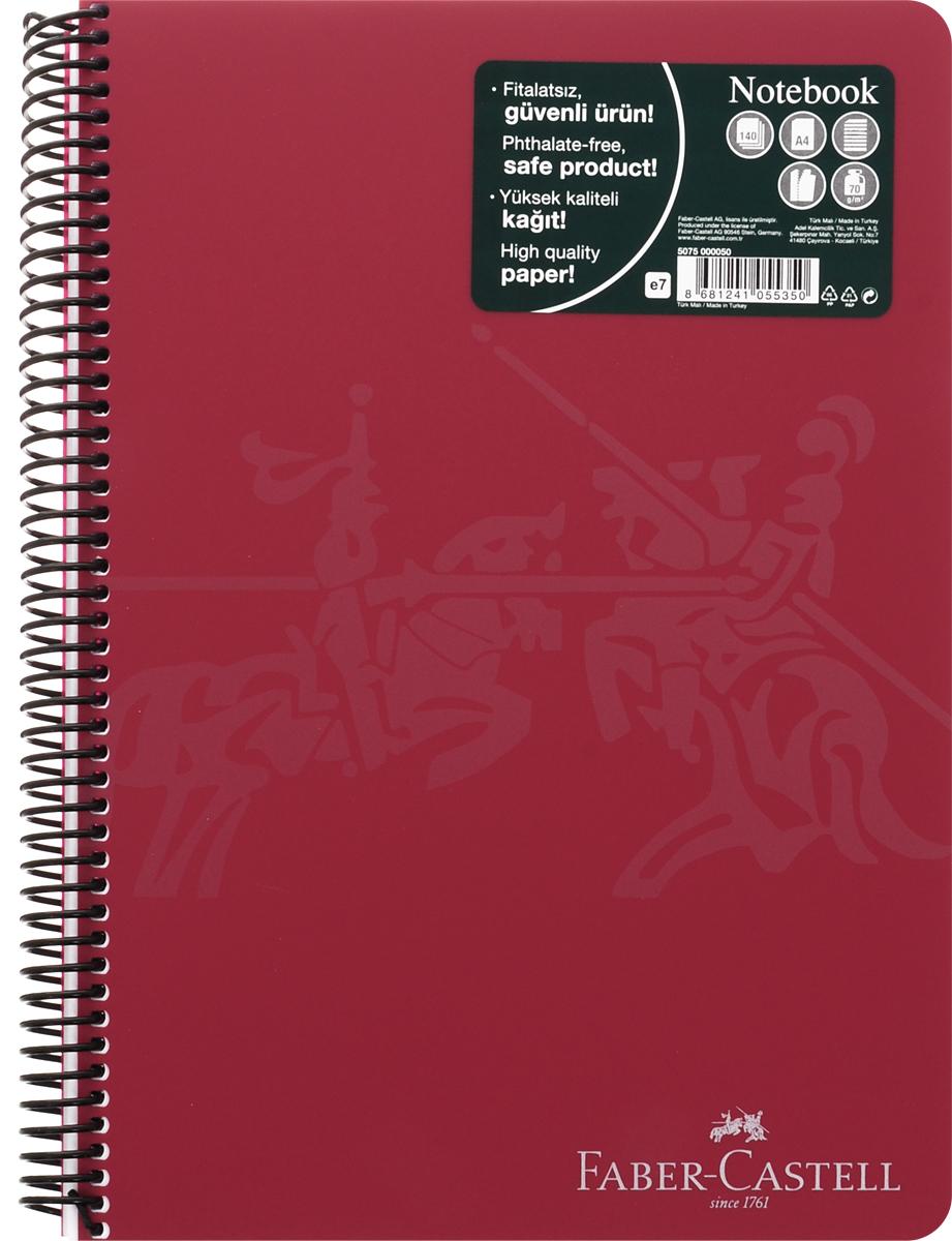 Faber-Castell Блокнот Knight 140 листов в линейку цвет бордовый507050_бордовыйОригинальный блокнот Faber-Castell Knight в твердой пластиковой обложке подойдет для памятных записей, любимых стихов и многого другого.Внутренний блок состоит из 140 листов в линейку. Блокнот скреплен спиралью. Такой блокнот станет вашим верным помощником,а также отличным подарком для в близких и друзей.