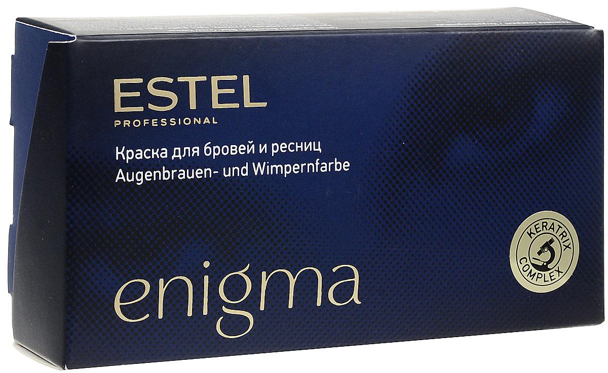 Estel Enigma Краска для бровей и ресниц Тон иссиня-черный 20 мл + 20 млEN/2Ультрамягкая формула краски Estel Enigma для бровей и ресниц обеспечивает превосходный стойкий результат окрашивания. Компоненты легко смешиваются и дозируются. Красящая смесь пластична, удобна для нанесения, содержит мерцающий пигмент. Краска проста и безопасна в применении,экономична в использовании. Удобный набор для окрашивания содержит все необходимо. В комплект краски входят: туба с крем-краской, 20 мл флакон с проявляющей эмульсией, 20 мл мисочка для краски, лопаточка для размешивания и нанесения, защитные листочки для век, инструкция по применению.Уважаемые клиенты! Обращаем ваше внимание на возможные изменения в дизайне упаковки. Качественные характеристики товара остаются неизменными. Поставка осуществляется в зависимости от наличия на складе.