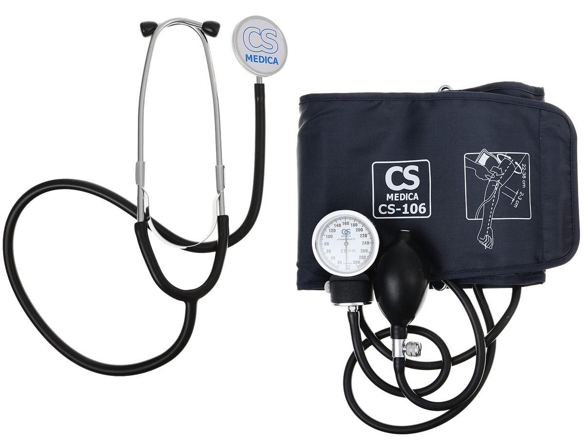 CS Меdica CS-106 тонометр000 000 00052CS-106 - классический механический тонометр для использования в медицинских учреждениях и домашних условиях.