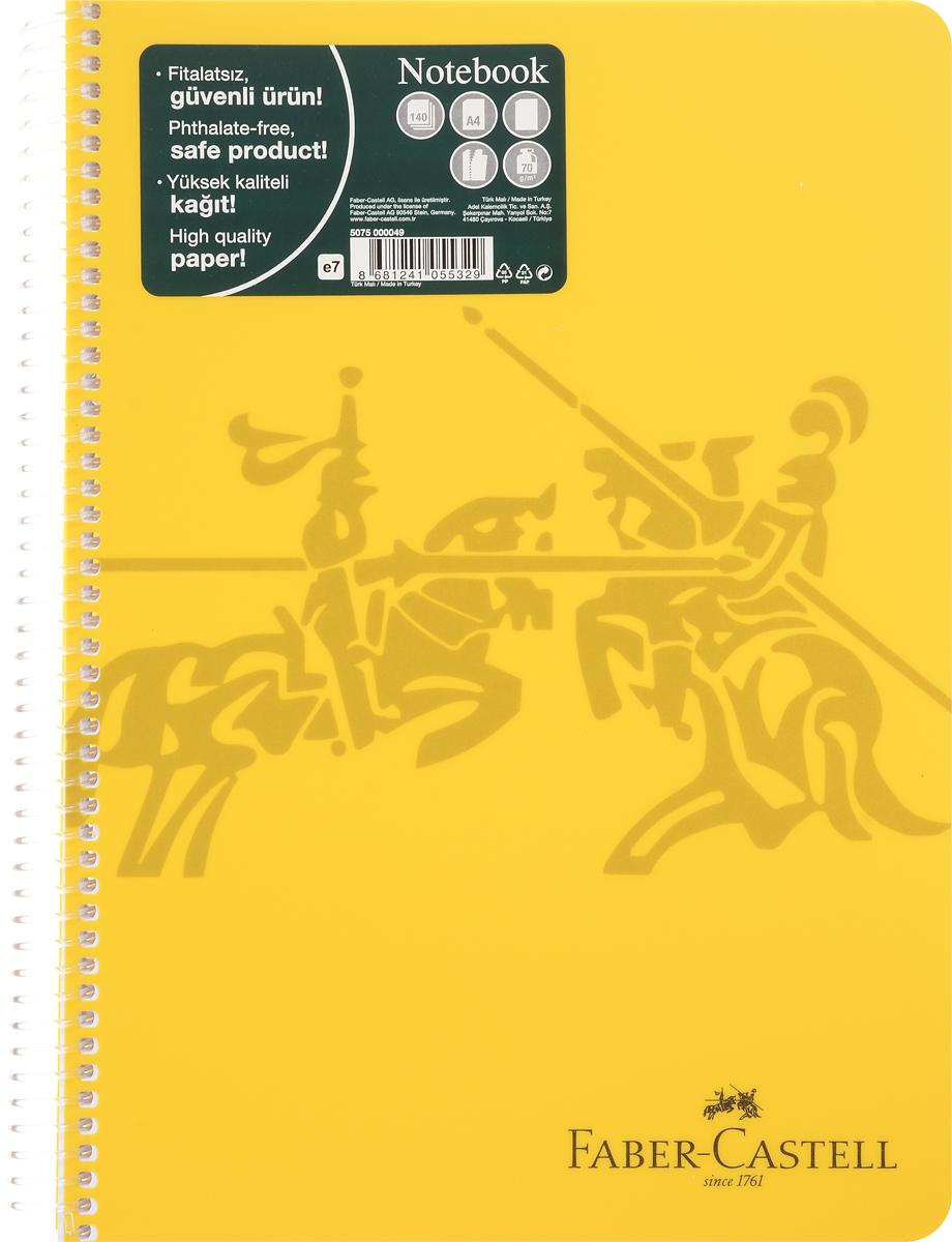 Faber-Castell Блокнот Knight 140 листов без разметки цвет желтый507049_желтыйОригинальный блокнот Faber-Castell Knight в твердой пластиковой обложке подойдет для памятных записей, любимых стихов и многого другого.Внутренний блок состоит из 140 листов без разметки. Блокнот скреплен спиралью. Такой блокнот станет вашим верным помощником,а также отличным подарком для в близких и друзей.