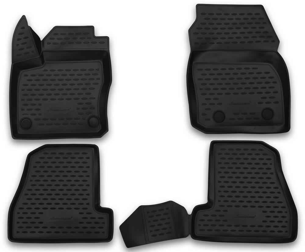 Коврики автомобильные Element 3D в салон автомобиля Ford Focus 3, (2015-), 4 штELEMENT3D1671210kКомплект полиуретановых ковров Element 3D предназначен для защиты пола автомобиля Ford Focus от загрязнения и механических повреждений. Автоковрики Element 3D с защитой от западания педали газа изготавливаются из экологически чистого полимерного материала, по физическим характеристикам повторяющий натуральный каучук. Такой коврик не боится щелочных, кислотных и нефтепродуктов, а так же любых других химически активных веществ. В салоне коврики фиксируются специальными крепежами-клипсами, полностью закрывают поверхность пола автомобиля и прекрасно вписываются в интерьер салона. Полиуретан - это современный, экологически чистый, полимерный материал, обладающий следующими характеристиками: Экологическая безопасностьУстойчивость к ультрафиолетуПротиводействие скольжениюНейтральность к агрессивным химическим средамУстойчивость к перепадам температур, от -50°С до +50°С Соответствие цветовому решению салона автомобиля Эластичность Легкость Устойчивость к истиранию.УВАЖАЕМЫЕ КЛИЕНТЫ!Коврик имеет размеры и форму, которые соответствуют багажнику данной модели автомобиля.
