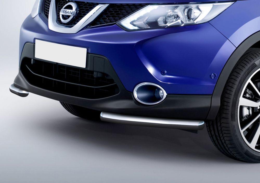Защита переднего бампера Rival, для Nissan Qashqai 2013-, d57 уголки+комплект крепежа, 2 штR.4118.002Стильное навесное оборудование Rival дополняет внешний вид автомобиля, придавая ему индивидуальность, позволяет защитить кузов и лакокрасочное покрытие от повреждений при столкновении во время парковки или во время движения в плотном потоке автомобилей.- Использование высококачественной нержавеющей стали(марка AISI 304, толщина стенки 1,5 мм) обеспечивает долговечную эксплуатацию. - Гарантия на сквозную коррозию и на целостность сварных швов - 5 лет.- Использование электроплазменной полировки позволяет добиться качественной равномерной зеркальной поверхности.- Установка в штатные места крепления не требует сверления и дополнительной доработки автомобиля.- Сохранение дорожного просвета (клиренса).- Возможность регулировки навесного оборудования при установке на автомобиле.- Продукт сертифицирован – нет проблем с постановкой на учет.- Производство на высокоточном оборудовании позволяет изготовить индивидуальный продукт с высокой точностью повторения геометрии автомобиля.- В комплекте крепеж и инструкция по установке.Совместимость с дополнительным оборудованием и аксессуарами Rival и с большинством оригинальных аксессуаров.