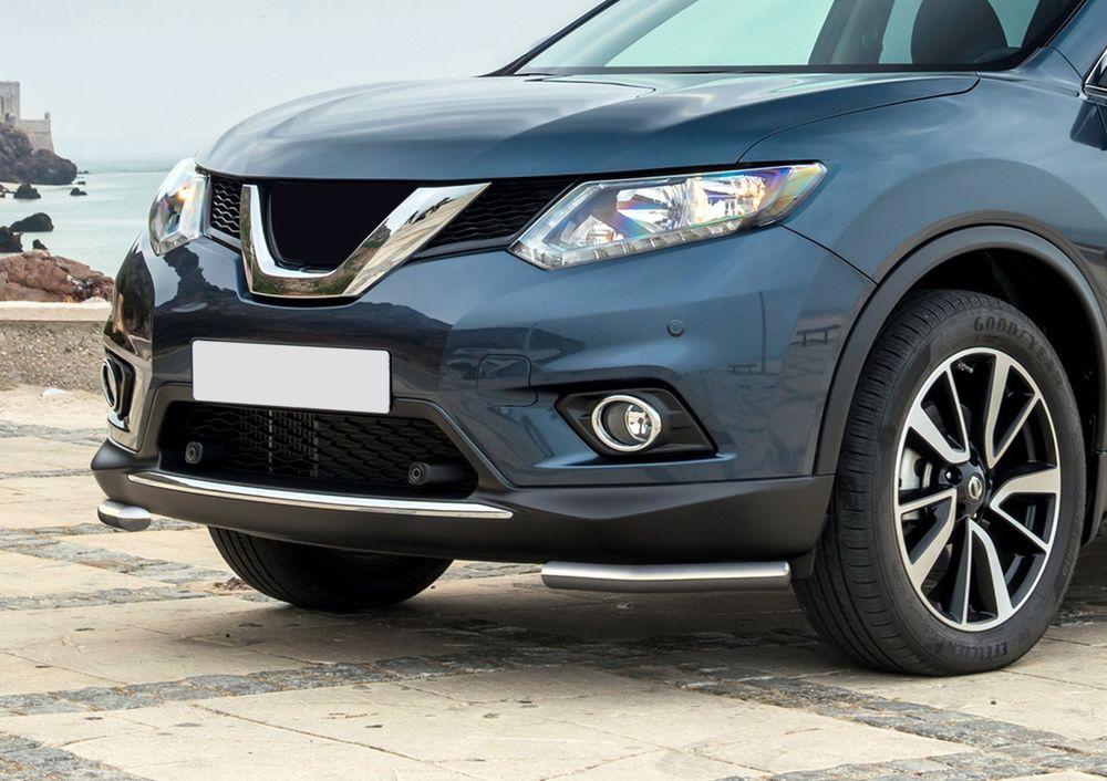 Защита переднего бампера Rival, для Nissan X-Trail 2015-, d42 уголки+комплект крепежа, 2 штR.4122.004Стильное навесное оборудование Rival дополняет внешний вид автомобиля, придавая ему индивидуальность, позволяет защитить кузов и лакокрасочное покрытие от повреждений при столкновении во время парковки или во время движения в плотном потоке автомобилей.- Использование высококачественной нержавеющей стали(марка AISI 304, толщина стенки 1,5 мм) обеспечивает долговечную эксплуатацию. - Гарантия на сквозную коррозию и на целостность сварных швов - 5 лет.- Использование электроплазменной полировки позволяет добиться качественной равномерной зеркальной поверхности.- Установка в штатные места крепления не требует сверления и дополнительной доработки автомобиля.- Сохранение дорожного просвета (клиренса).- Возможность регулировки навесного оборудования при установке на автомобиле.- Продукт сертифицирован – нет проблем с постановкой на учет.- Производство на высокоточном оборудовании позволяет изготовить индивидуальный продукт с высокой точностью повторения геометрии автомобиля.- В комплекте крепеж и инструкция по установке.Совместимость с дополнительным оборудованием и аксессуарами Rival и с большинством оригинальных аксессуаров.