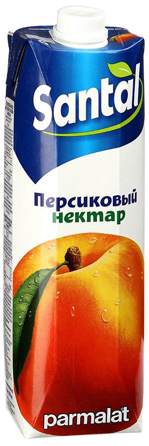 Santal Нектар Персиковый, 1 л любимый яблоко персик нектарин нектар с мякотью 0 2 л