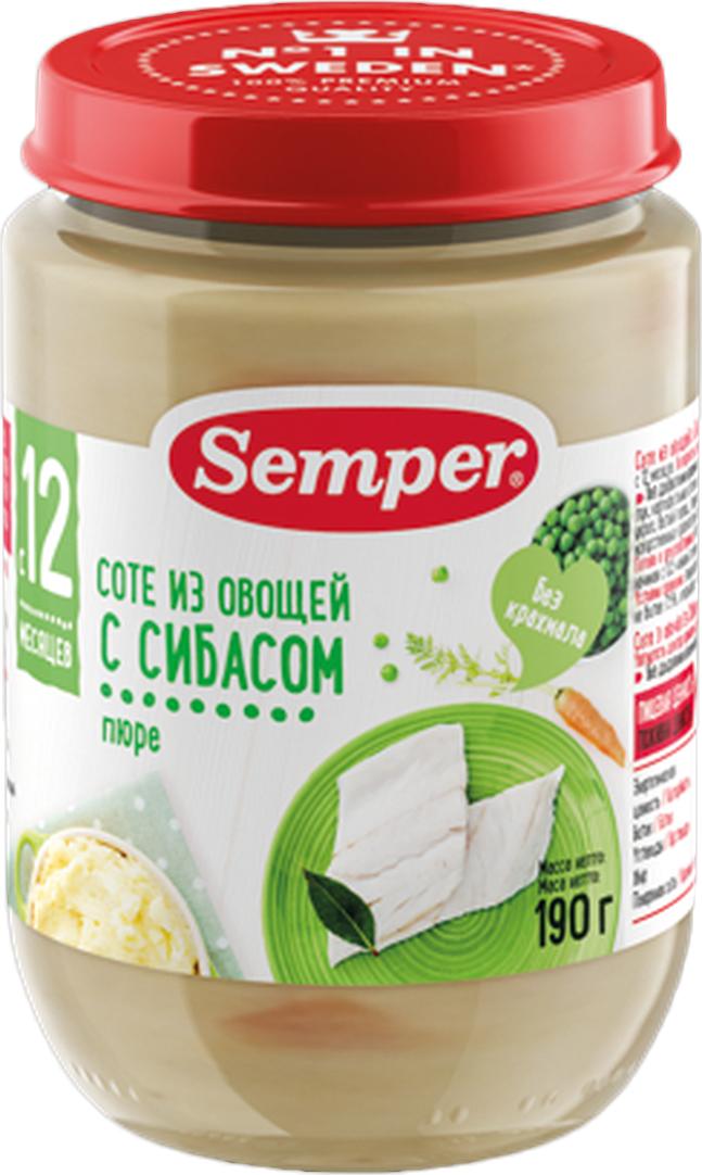 Semper пюре соте из овощей с сибасом, с 12 месяцев, 190 г25792Рыба богата полезными веществами, необходимыми для роста и полноценного развития детского организма. Но как понять, какую рыбу дать ребёнку, как правильно её приготовить? У Semper есть специальное, сбалансированное по своему составу блюдо с сибасом для малышей с 12-ти месяцев. Это нежное пюре с мягкими кусочками поможет маме разнообразить рацион ребёнка и познакомить его с полезной рыбой. Сибас - это диетическая рыба из благородных сортов, польза которой заключена в большом содержании Омега-3 жирных кислот и в легко усваиваемом белке. Поэтому она прекрасно подходит для детского питания. Тонкий вкус сибаса и соте из любимых овощей - это уникальный кулинарный шедевр от Semper!