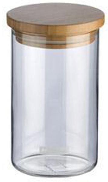 """Емкость для сыпучих продуктов Tescoma """"Fiesta"""" изготовлена из  боросиликатного стекла. Крышка, выполненная из первоклассной древесины  бамбука, дополнена силиконовой прокладкой для того, чтобы продукты дольше  оставались свежими и ароматными.  Банка подходит для хранения круп, муки, чая, соли, панировочных сухарей и  многого другого.  Исключительный внешний вид изделия позволяет идеально вписать его в любой  интерьер. Емкость можно мыть в посудомоечной машине. Деревянную крышку мыть в посудомоечной машине не рекомендуется. При необходимости крышку нужно протереть влажной тряпкой и высушить."""