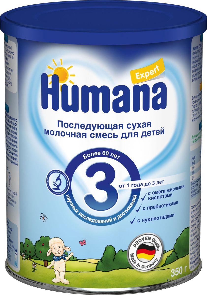 Humana Эксперт 3 сухая молочная смесь, с 1 года до 3 лет, 350 г молочные смеси humana заменитель expert 1 с рождения 350 г