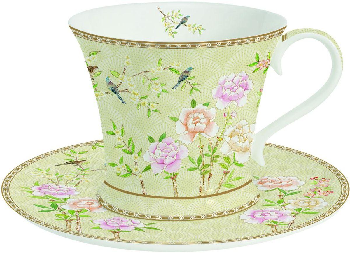 Чайная пара Easy Life Сад во дворце, 2 предмета. 1354PALF27005Чайная пара Easy Life Сад во дворце состоит из чашки и блюдца. Изделия, выполненные извысококачественного фарфора, имеют элегантный дизайн и декорированыизображением цветов.Такая чайная пара прекрасно подойдет как для повседневного использования, так идля праздников. Изящный дизайн и красочность оформления придутся по вкусу иценителям классики, и тем, кто предпочитает утонченность и изысканность.