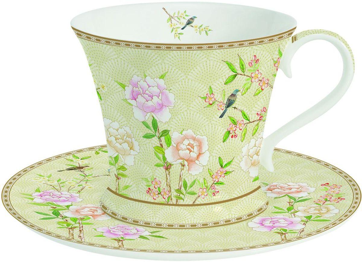 Чайная пара Easy Life Сад во дворце, 2 предмета. 1357PALF1357PALF1357PALF Чашка с блюдцем Сад во дворце 300мл,фарфор