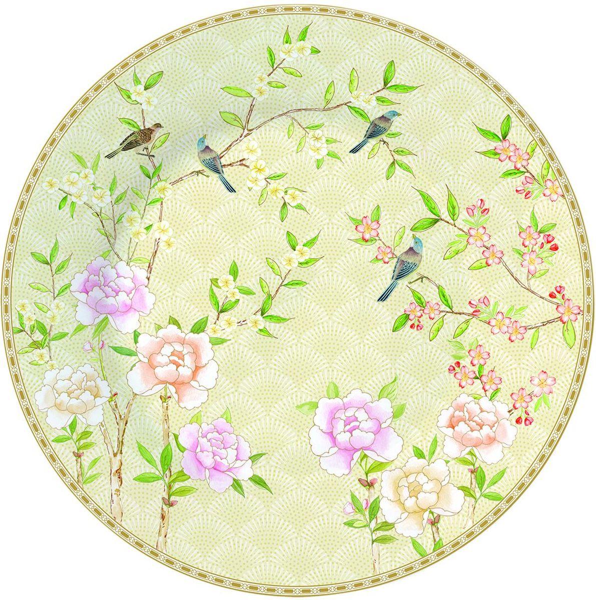 Тарелка Easy Life Сад во дворце, диаметр 19 см1358PALFТарелка Easy Life выполнена из фарфора. Изделие украшено уникальным принтом.Такая тарелка станет не только украшением стола, но и прекрасным подарком.Диаметр: 19 см.