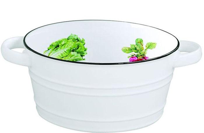 Салатник Easy Life Кухня, диаметр 16 см1617KIBKСалатник Easy Life выполнен из высококачественного прочного фарфора, имеет две ручки. Изделие оформлено красочным изображением. Салатник красиво оформит стол и удивит ваших гостей изящным дизайном.