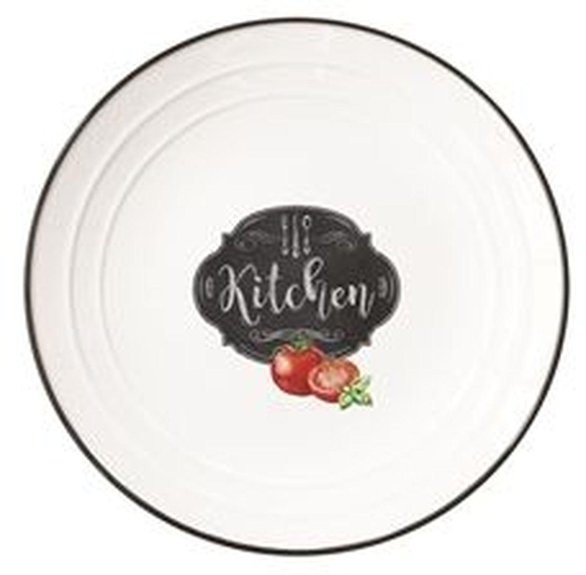 Тарелка Easy Life Кухня, диаметр 21,5 см1623KIBKТарелка Easy Life Кухня изготовлена из высококачественного фарфора.Тарелка имеет оригинальный дизайн, а высокое качество и практичность позволят использовать ее долгое время.