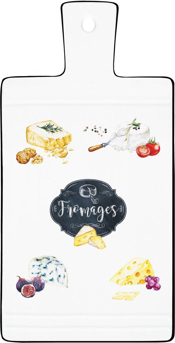Доска сервировочная для сыра Easy Life Кухня, 35 х 18 см1630KIBFСервировочная доска для сыра Easy Life Кухня изготовлена из высококачественного фарфора, декорирована рисунком. Такая доска прекрасно подойдет для вашей кухни и великолепно украсит стол. Изящный дизайн и красочность оформления доски придутся по вкусу и ценителям классики, и тем, кто предпочитает утонченность и изысканность.