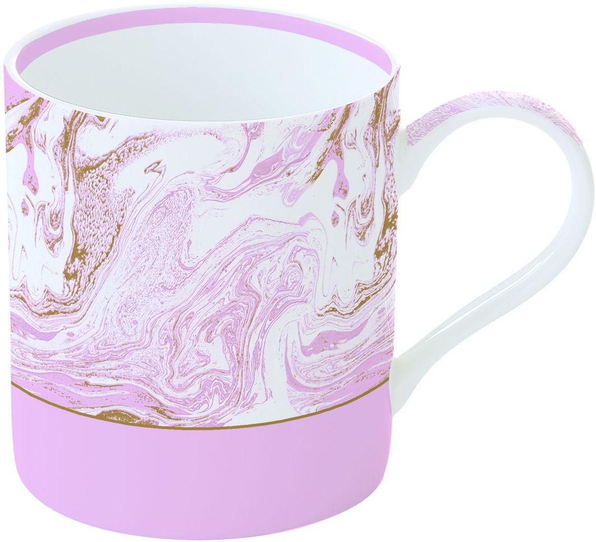 Кружка Easy Life Малахит, цвет: розовый, 350 мл282MALPКружка Easy Life Малахит выполнена из высококачественного фарфора. Изделие оснащено эргономичной ручкой. Кружка сочетает в себе оригинальный дизайн и функциональность. Она согреет вас долгими холодными вечерами.Объем: 350 мл.