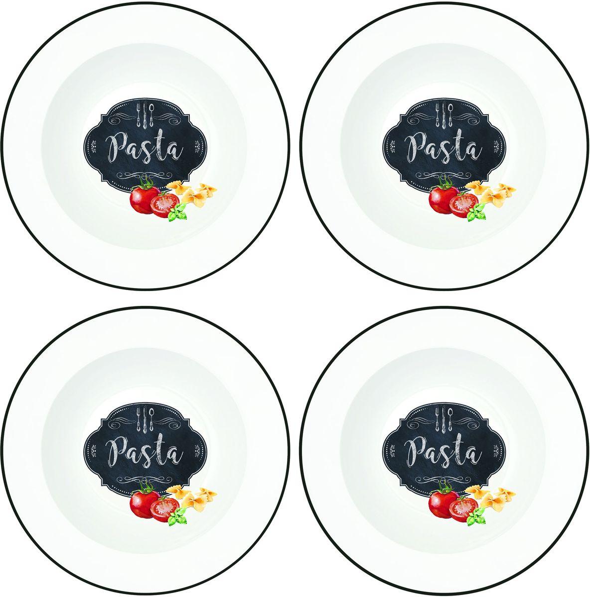 Набор тарелок Easy Life Кухня, диаметр 22 см, 4 шт819KIBPНабор Easy Life Кухня состоит из четырех тарелок, оформленных красивым рисунком. Изделия, изготовленные из высококачественного фарфора, сочетают в себе изысканный дизайн с максимальной функциональностью. Тарелки предназначены для холодных и горячих продуктов.Такие тарелки незаменимы в поездках на природу и на пикниках.Диаметр тарелки: 22 см.