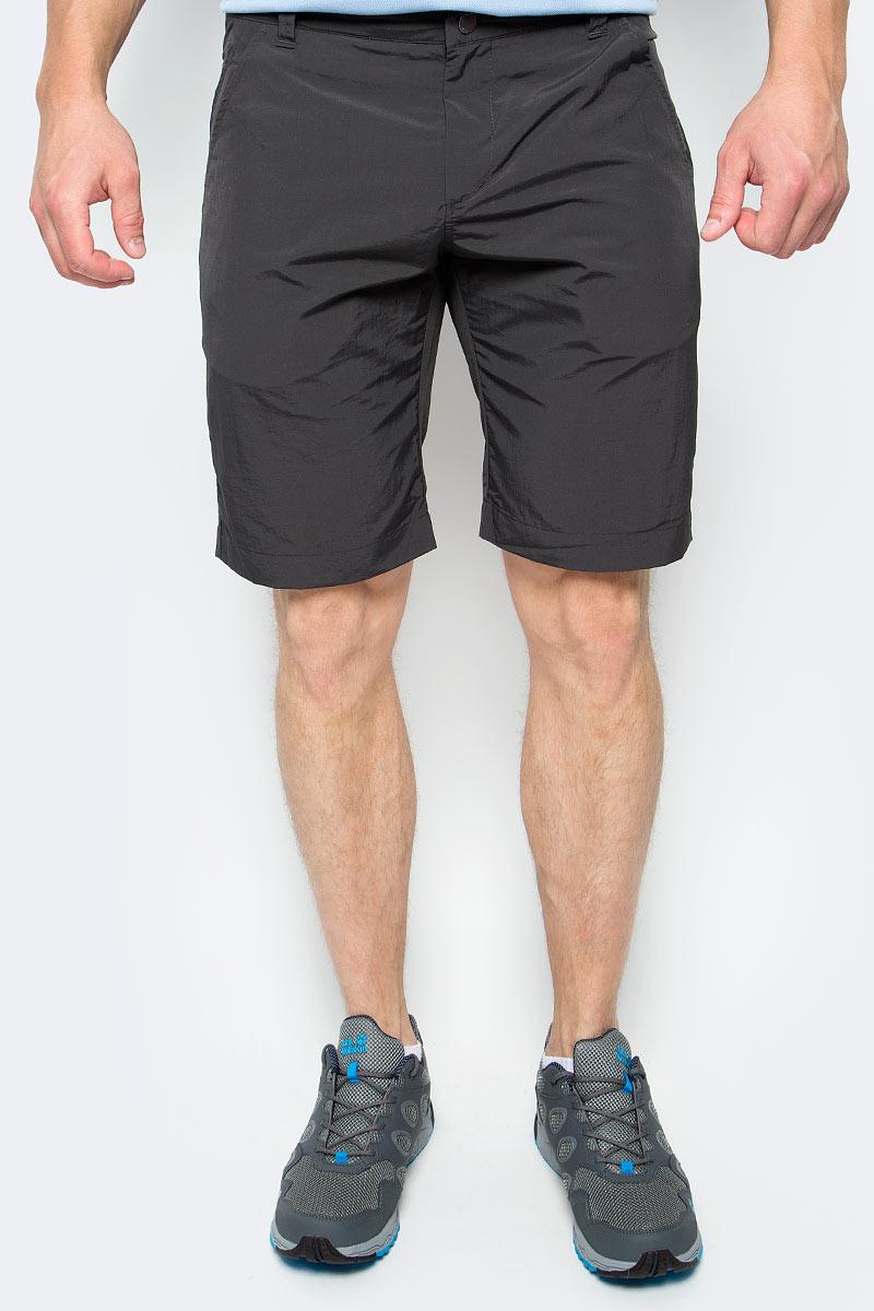 Шорты мужские Jack Wolfskin Kalahari Shorts, цвет: серый. 1503271-6350. Размер 481503271-6350Шорты мужские Kalahari Shorts— это дорожные шорты из нейлона SUPPLEX (СУПЛЕКС), который просто создан для путешествий. Шорты имеют множество преимуществ, особенно практичных в путешествии: они легкие, защищают от ультрафиолетового излучения и упаковываются очень компактно. К тому же материал очень быстро сохнет. Модель застегивается на ширинку с молнией и пуговицу в поясе. Пояс дополнен шлевками для ремня. Спереди расположены два втачных кармана, сзади также имеется два втачных кармана. Kalahari Shorts — сочетание нужных качеств для путешествий, летних походов и будней.