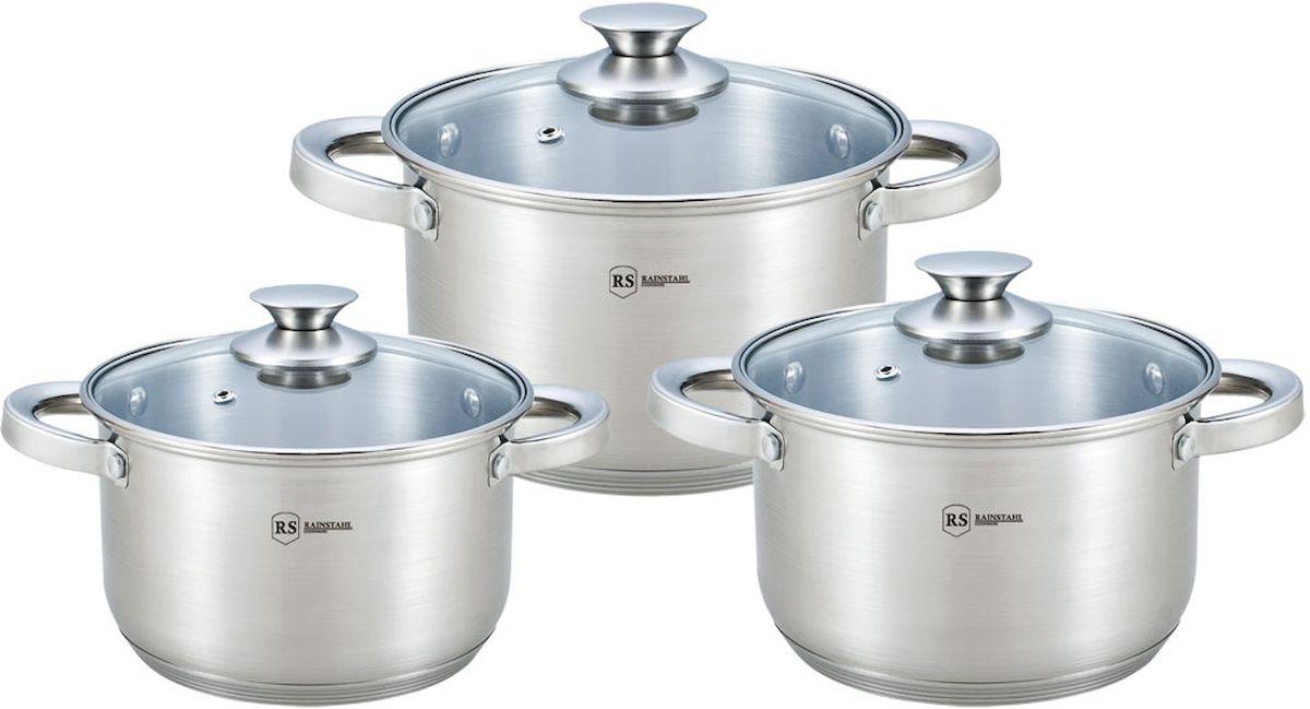 Набор посуды Rainstahl, 6 предметов. 1642-06RS\CW набор посуды rainstahl 8 предметов 1230 08rs cw bk