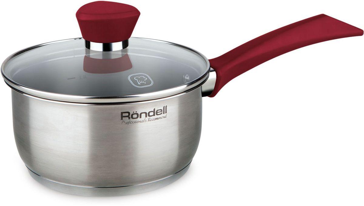 Ковш Rondell Strike с крышкой, цвет: серый, красный, 1,3 лRDS-812Ковш Rondell Strike изготовлен из высококачественной нержавеющей стали 18/10, что гарантирует безупречный внешний вид посуды, практичность и долговечность. Уникальный 2-х этапный метод технологии тройного дна с вштампованным, а затем вплавленным алюминиевым диском позволяет равномерно распределять и значительно дольше сохранять тепло в стенках и дне посуды, что предотвращает пригорание пищи и обеспечивает более быстрое приготовление блюд. Посуда продолжает готовить даже после выключения плиты!Внешнее антипригарное покрытие изысканного цвета гарантирует безупречный вид посуды и легкий уход за поверхностью.Крышка, выполненная из термостойкого стекла, позволяет контролировать процесс приготовления без потери тепла. Аккумуляция тепла при закрытой крышке создает замкнутый цикл парообразования, позволяя готовить в такой посуде без использования масла и воды или же с их минимальным количеством, что позволяет сохранить натуральный вкус продуктов.С отметками литража на внутренних стенках посуды вы легко сможете соблюдать пропорции рецептуры без применения дополнительных предметов.Клепаная не нагревающаяся стальная ручка оснащена силиконовой ненагревающейся вставкой, надежно крепится к корпусу ковша.Изысканный дизайн и функциональность ковша Rondell Strike создаст на вашей кухне неповторимый стиль и позволит вам наслаждаться процессом приготовления любимых, полезных для здоровья блюд. Подходит для использования на всех видах плит, включая индукционные. Нельзя мыть в посудомоечной машине.Характеристики:Материал: нержавеющая сталь 18/10, стекло.Объем ковша: 1,3 л.Внутренний диаметр ковша: 16 см.Толщина стенок ковша: 0,5 мм.Толщина дна ковша: 5,0 мм. УВАЖАЕМЫЕ КЛИЕНТЫ!Обращаем ваше внимание на тот факт, что объем ковша указан максимальный, сучетом полного наполнения до кромки. Шкала на внутренней стенке ковша имеетменьший литраж.Посуда Rondell совсем недавно появилась на российском рынке, но уже прекрасно себязарек