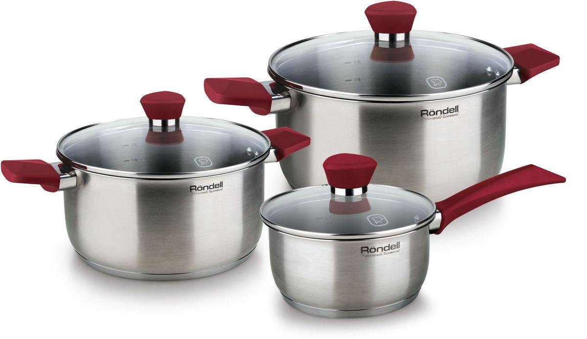 Набор посуды Rondell  Strike , цвет: стальной, 6 предметов - Посуда для приготовления