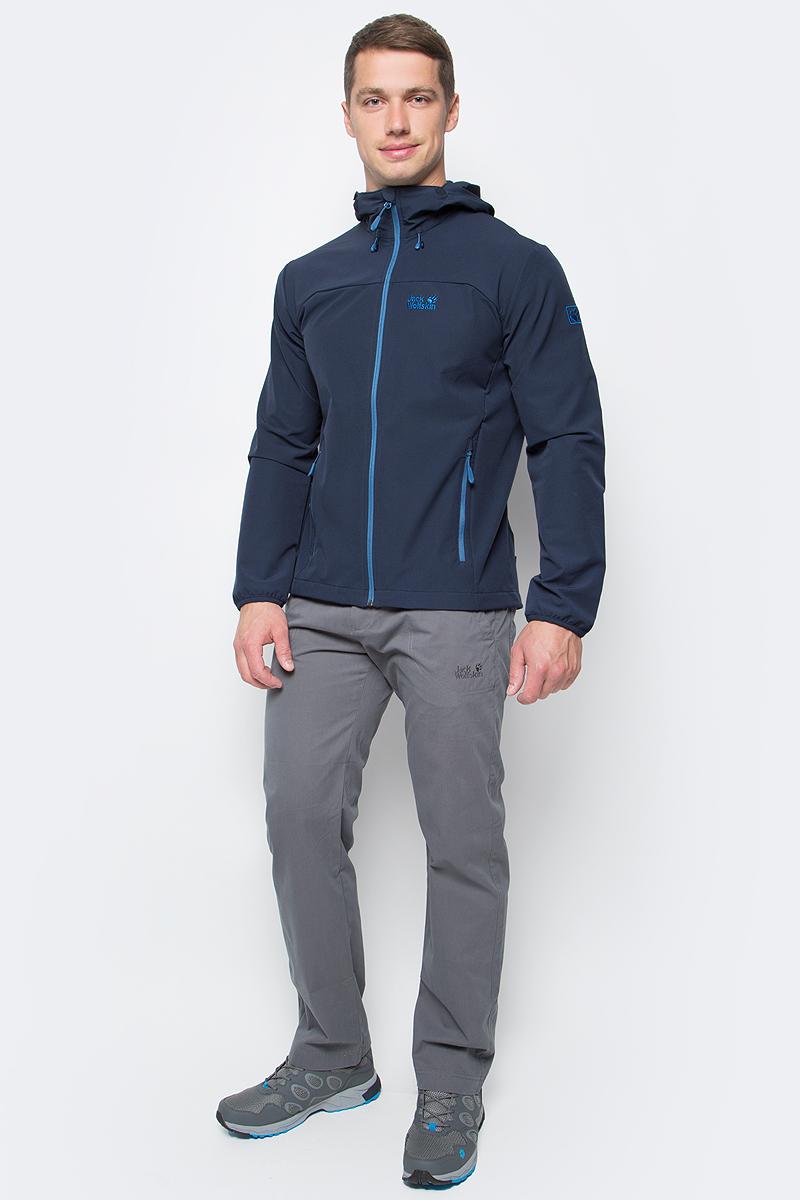цена Куртка мужская Jack Wolfskin Turbulence Jkt M, цвет: темно-синий. 1303661-1033. Размер M (46) онлайн в 2017 году