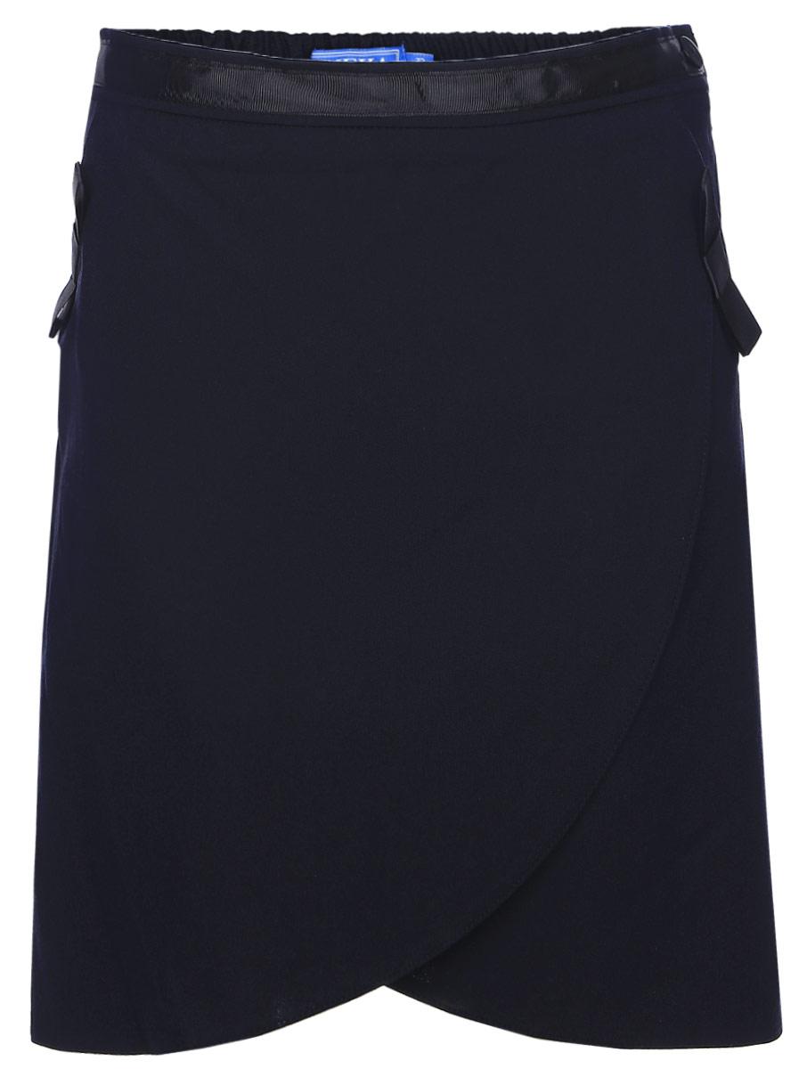 Юбка для девочек Смена, цвет: синий. 16с729-66. Размер 140/14616с729-66Юбка из смесовой вискозы полуприлигающего силуэта