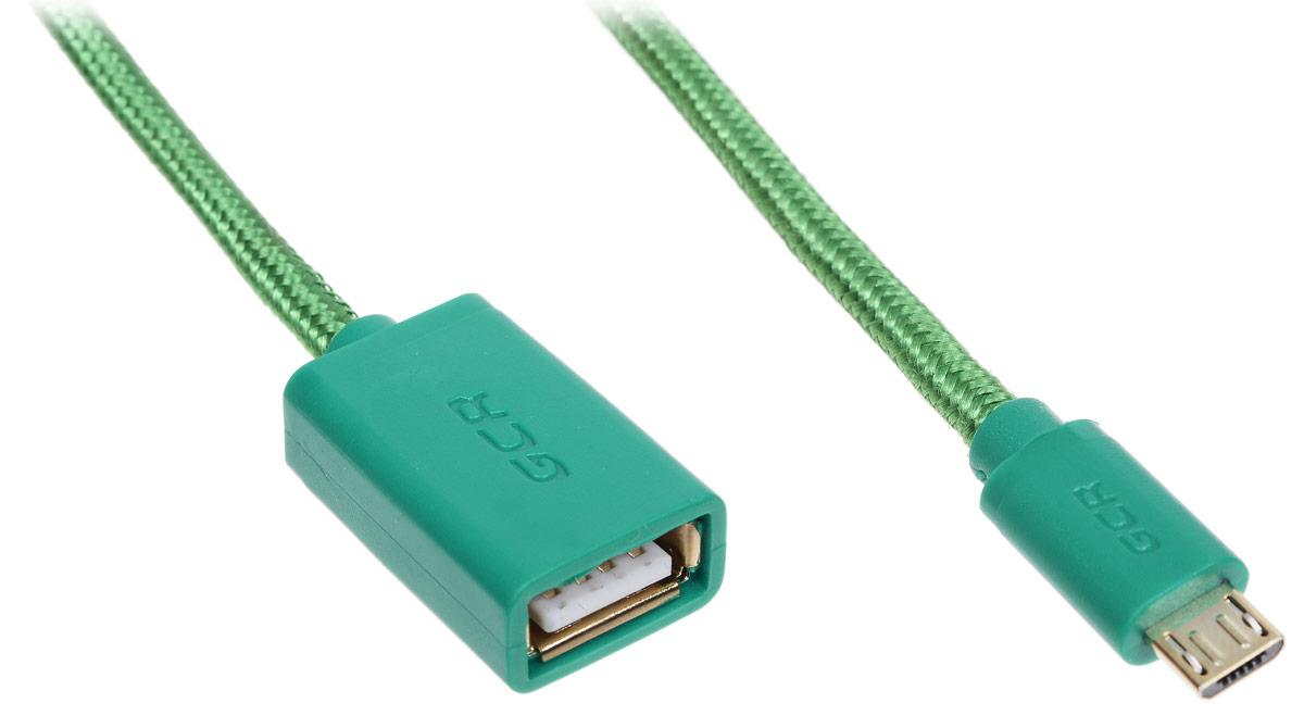 Greenconnect Russia GCR-MB7AF-BB2SG, Green адаптер переходник OTG (0,75 м)GCR-MB7AF-BB2SG-0.75mС помощью Greenconnect Russia GCR-MB7AF-BB2SG вы сможете подключить любые устройства, имеющие разъем USB к порту microUSB OTG (On-The-Go) вашего девайса. Экранирование кабеля позволяет защитить сигнал при передаче от влияния внешних полей, способных создать помехи.OTG (On-The-Go) функция позволяет синхронизировать периферийные USB-устройства с портативным девайсом напрямую - без необходимости подключения к ПК.