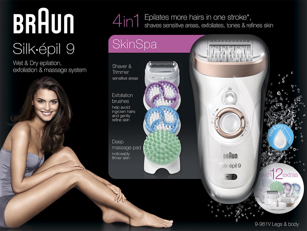 Эпилятор Braun Silk-Epil 9 SkinSpa 9-961v 4-в-1 Braun