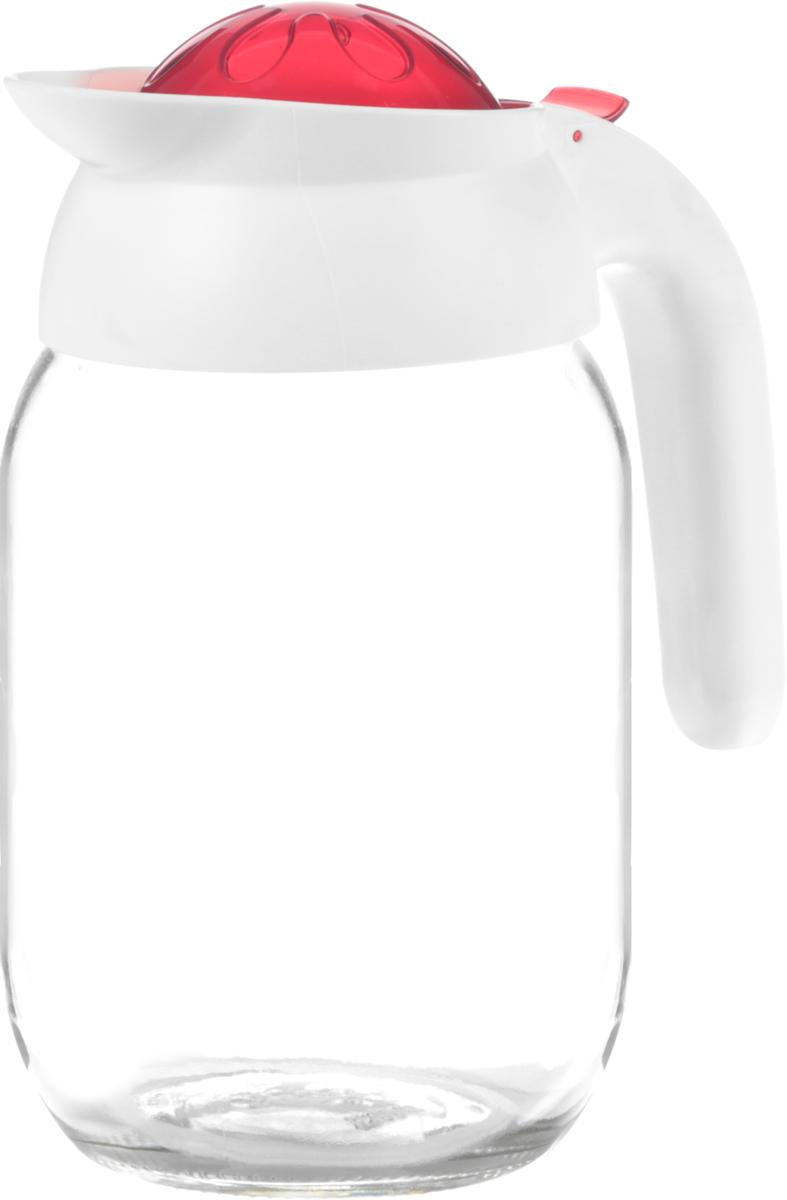 Кувшин Pasabahce, 1,5 л, цвет: красный111269-000_красныйКувшин Pasabahce, изготовленный из стекла и пластика, 3 предназначен для воды или других жидкостей. Кувшин украсит сервировку любого стола и подчеркнет прекрасный вкус хозяина, а также станет отличным подарком. Дизайн придется по вкусу и ценителям классики, и тем, кто предпочитает утонченность и изящность.Размеры: 16 х 20 х 11 см