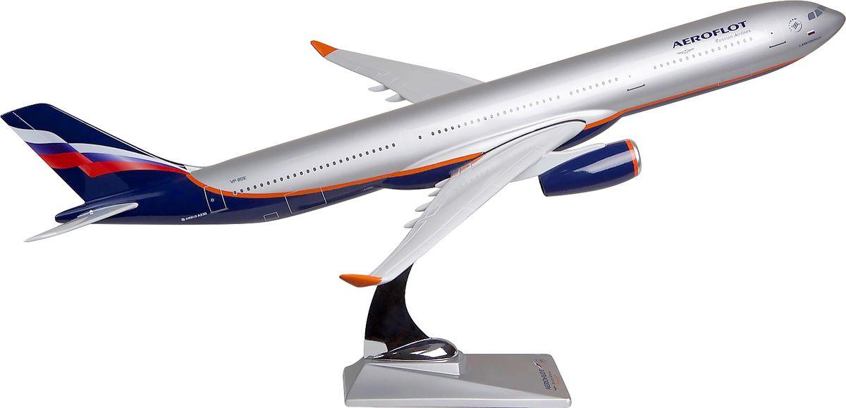 Модель самолета Аэрофлот Airbus А330-300, масштаб 1:1002200000921Модель Airbus А330-300 в классической раскраске-ливрее Аэрофлота выполнена из композитной смолы с металлической стойкой-подставкой. Airbus А330-300 — широкофюзеляжный дальнемагистральный авиалайнер, базовая и самая крупная модель в семействе А330. Предназначена для пассажирских перевозок на средние и дальние расстояния.