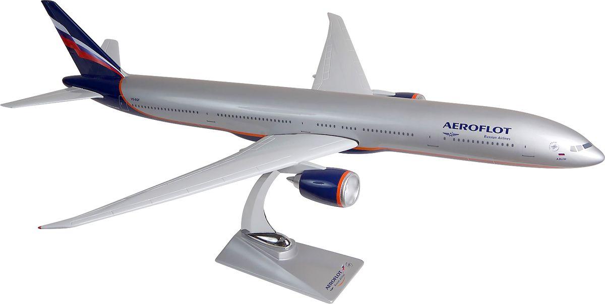 Модель самолета Аэрофлот Boeing В777-300ER, масштаб 1:1002200001704Модель самолета Аэрофлот Boeing В777-300ER в классической раскраске - ливрее Аэрофлота выполнена из композитной смолы серебристого цвета на металлической стойке.Boeing 777-300ER — модификация Boeing 777-300, оснащенная дополнительными топливными баками (ER означает Extended Range - повышенная дальность). Одна из самых продаваемых моделей знаменитых трех семерок. Отличается мощными реактивными двигателями, увеличенным взлетным весом и сниженным расходом топлива.
