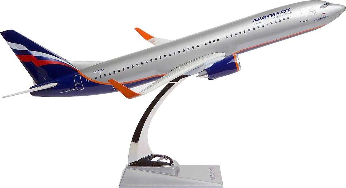 Модель самолета Аэрофлот Boeing В737-800, масштаб 1:1002200001705Модель самолета Аэрофлот Boeing В737-800 выполнена из композитной смолы с металлической стойкой-подставкой.Boeing 737-800 — один из представителей серии Next Generation, отличающейся от первых моделей Boeing 737 усовершенствованными двигателями, новой конструкцией крыла, цифровыми системами контроля и управления полетом и другими новшествами.