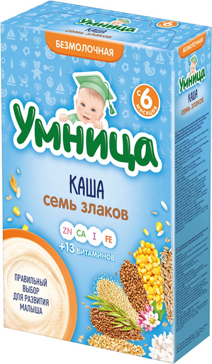 Умница каша Семь злаков безмолочная каша, с 6 месяцев, 200 г ржаная цельнозерновая мука купить в москве