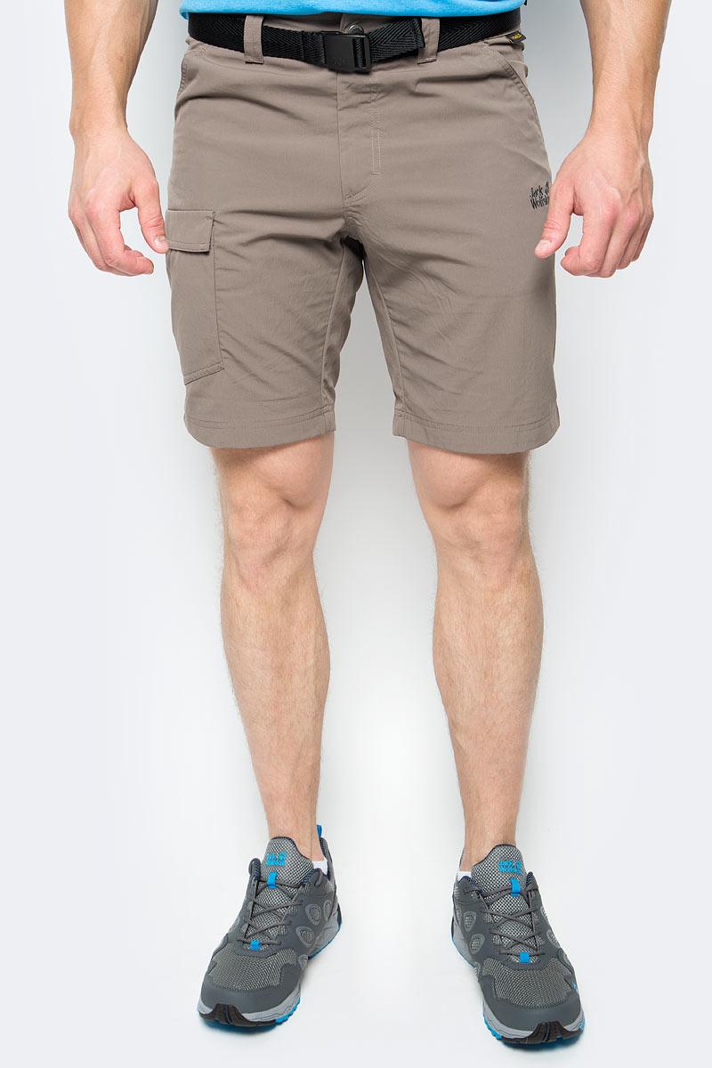 Шорты мужские Jack Wolfskin Hoggar Shorts, цвет: коричневый. 1503781-5116. Размер 50 santic men cycling shorts 3 4 coolmax sponge padded downhill mtb shorts breathable road mountain bike shorts bicycle short pants
