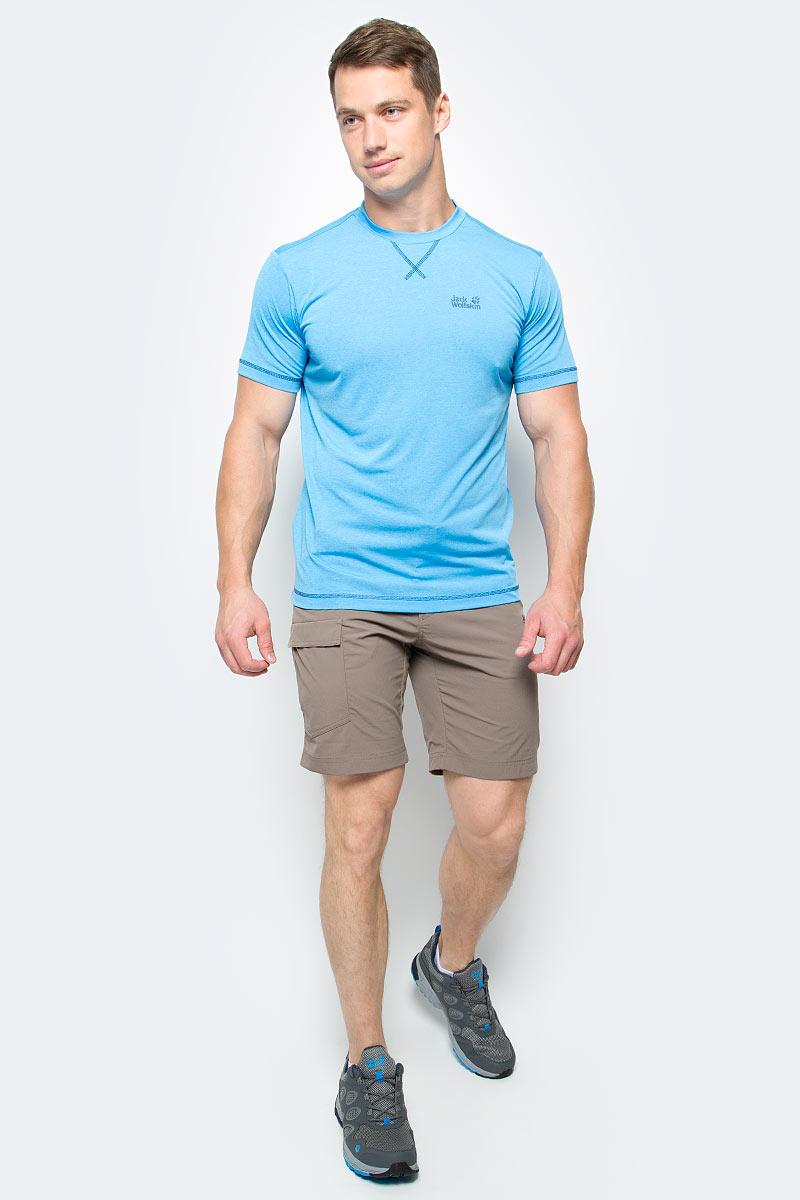 Шорты мужские Jack Wolfskin Hoggar Shorts, цвет: коричневый. 1503781-5116. Размер 54 (54)1503781-5116Очень прочные треккинговые шорты Hoggar Shorts готовы к любым испытаниям. Они изготовлены из легкой дышащей ткани, которая не только позволяет коже дышать, но и защищает от УФ-излучения. Таким образом, вы будете чувствовать себя комфортно на протяжении всего дня. Модель застегивается на ширинку с молнией и пуговицу в поясе. Модель дополнена текстильным ремнем. На поясе предусмотрены шлевки. Шорты имеют два втачных кармана спереди, два накладных кармана сзади и один накладной карман сбоку. Такая модель идеально подходит для туризма и путешествий.