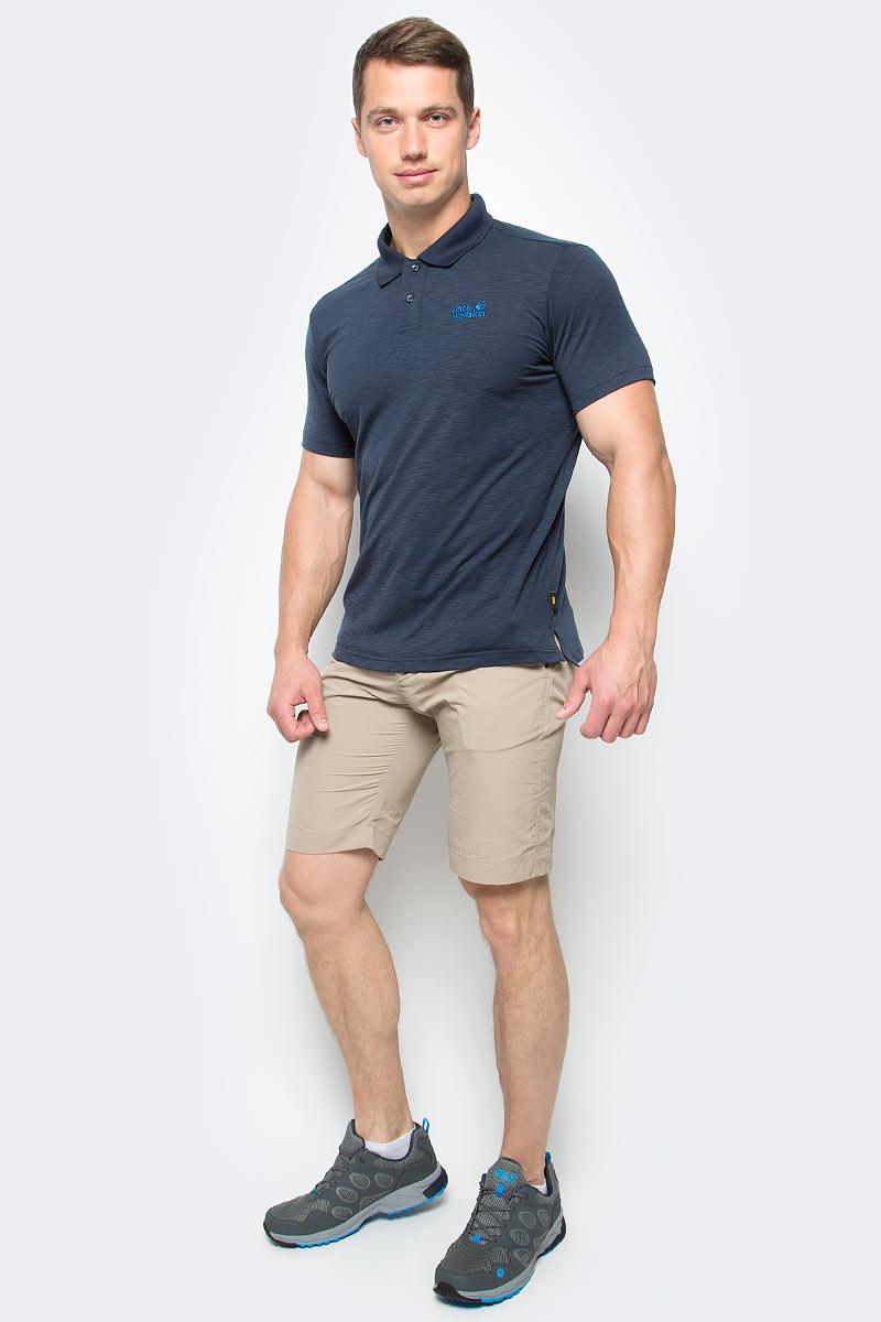 Шорты мужские Jack Wolfskin Kalahari Shorts, цвет: бежевый. 1503271-5605. Размер 48 (48)1503271-5605Шорты мужские Kalahari Shorts— это дорожные шорты из нейлона SUPPLEX (СУПЛЕКС), который просто создан для путешествий. Шорты имеют множество преимуществ, особенно практичных в путешествии: они легкие, защищают от ультрафиолетового излучения и упаковываются очень компактно. К тому же материал очень быстро сохнет. Модель застегивается на ширинку с молнией и пуговицу в поясе. Пояс дополнен шлевками для ремня. Спереди расположены два втачных кармана, сзади также имеется два втачных кармана. Kalahari Shorts — сочетание нужных качеств для путешествий, летних походов и будней.