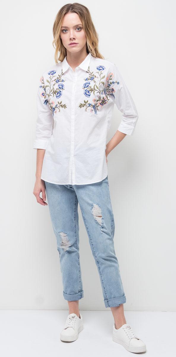 Блузка женская Sela, цвет: молочный. B-312/1178-7311. Размер 48 sela se001ebotd99