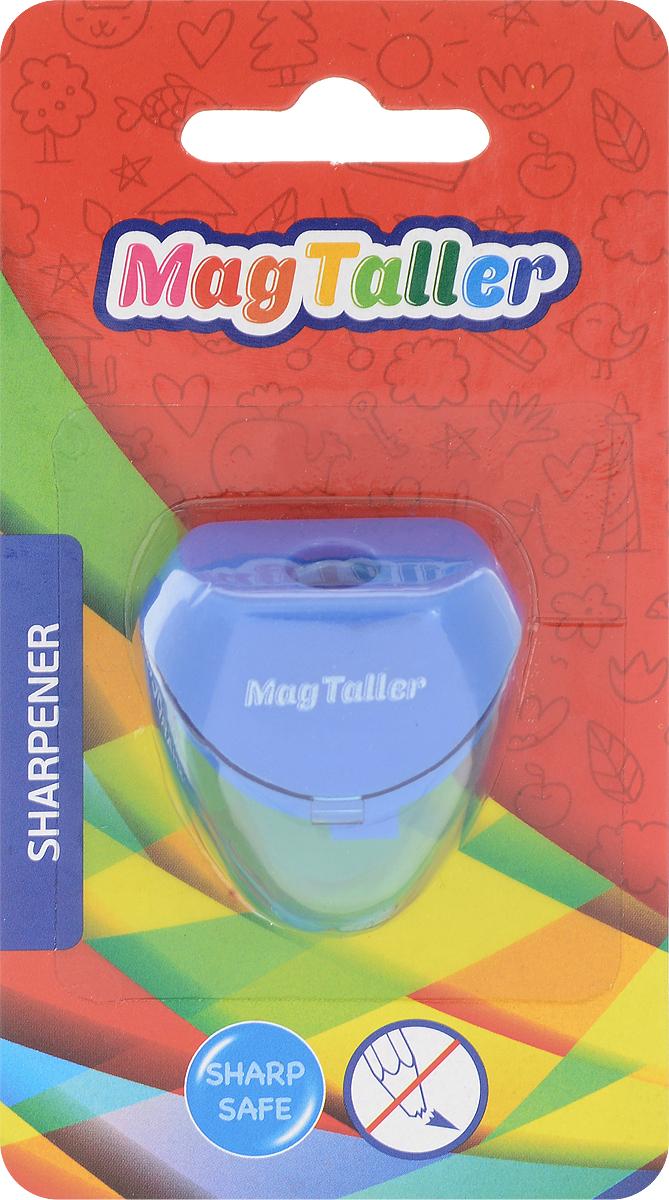 MagTaller Точилка Astia цвет синий604204_синийТочилка MagTaller Astia предназначена для затачивания классических простых и цветных утолщенных карандашей.В наборе точилка из прочного пластика с контейнером для стружек. Острые лезвия обеспечивают высококачественную и точную заточку деревянных карандашей.