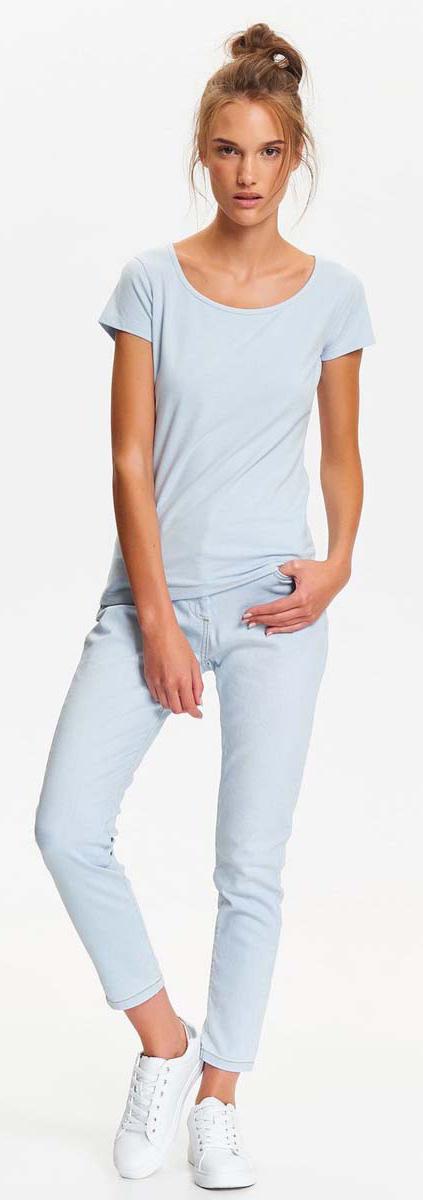 Футболка женская Top Secret, цвет: голубой. SPO3289NI. Размер 36 (44)SPO3289NIСтильная футболка Top Secret с коротким рукавом и круглым вырезом горловины выполнена из хлопка с добавлением эластана. Такая футболка займет достойное место в вашем гардеробе.
