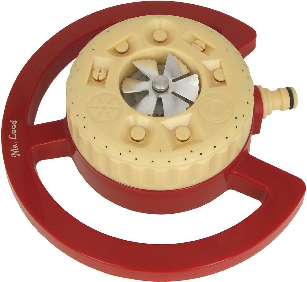 """Разбрызгиватель-шайба Mr.Logo """"Шайба"""" изготовлен на подставке, имеет 9 функций. Модель оснащена регулировкой сектора орошения. Разбрызгиватель подсоединяется к шлангу через быстросъемный коннектор."""