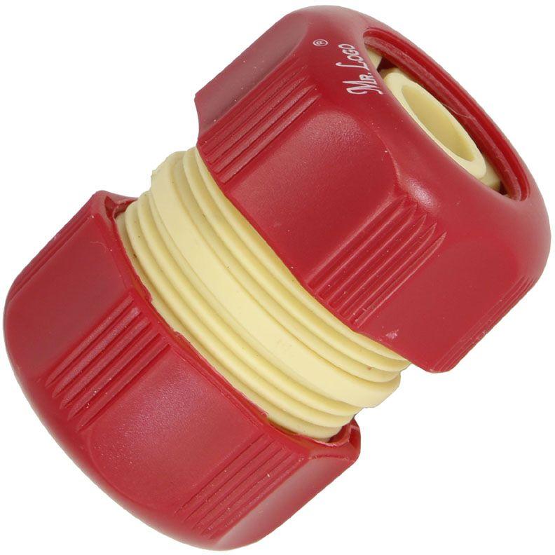 Муфта ремонтная Mr.Logo, 3/46420Муфта ремонтная позволяет быстро и легко нарастить шланг или подключить необходимый аксессуар. Все соединения герметичны. Вырежьте поврежденный участок, соедините образовавшиеся концы с помощью этой муфты, и шланг снова готов к работе. Новая затяжная гайка позволяет более эффективно соединить шланг с муфтой. Подходит для ремонта шлангов диаметром (3/4).