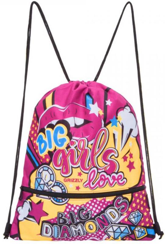 Grizzly Мешок для обуви цвет розовый OM-791-2OM-791-2/2Мешок для сменной обуви Grizzly идеально подойдет как для хранения, так и для переноски сменной обуви и одежды.Мешок выполнен из прочного материала и содержит одно вместительное отделение, затягивающееся с помощью текстильных шнурков. Шнурки фиксируются в нижней части сумки, благодаря чему ее можно носить за спиной как рюкзак. Изделие дополнено карманом спереди, который застегивается на застежку-молнию. Вашему ребенку обязательно пригодится такой аксессуар для школы!