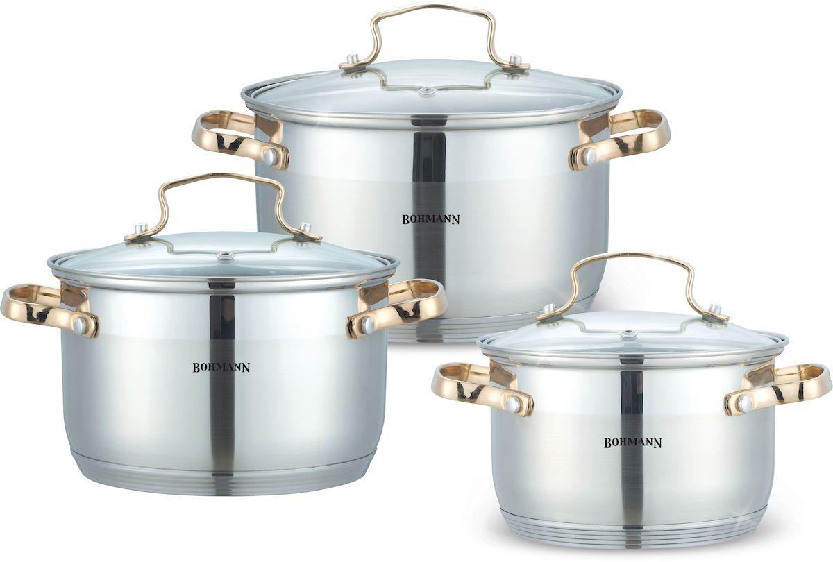 Набор кастрюль  Bohmann , 6 предметов. 1903BHG - Посуда для приготовления